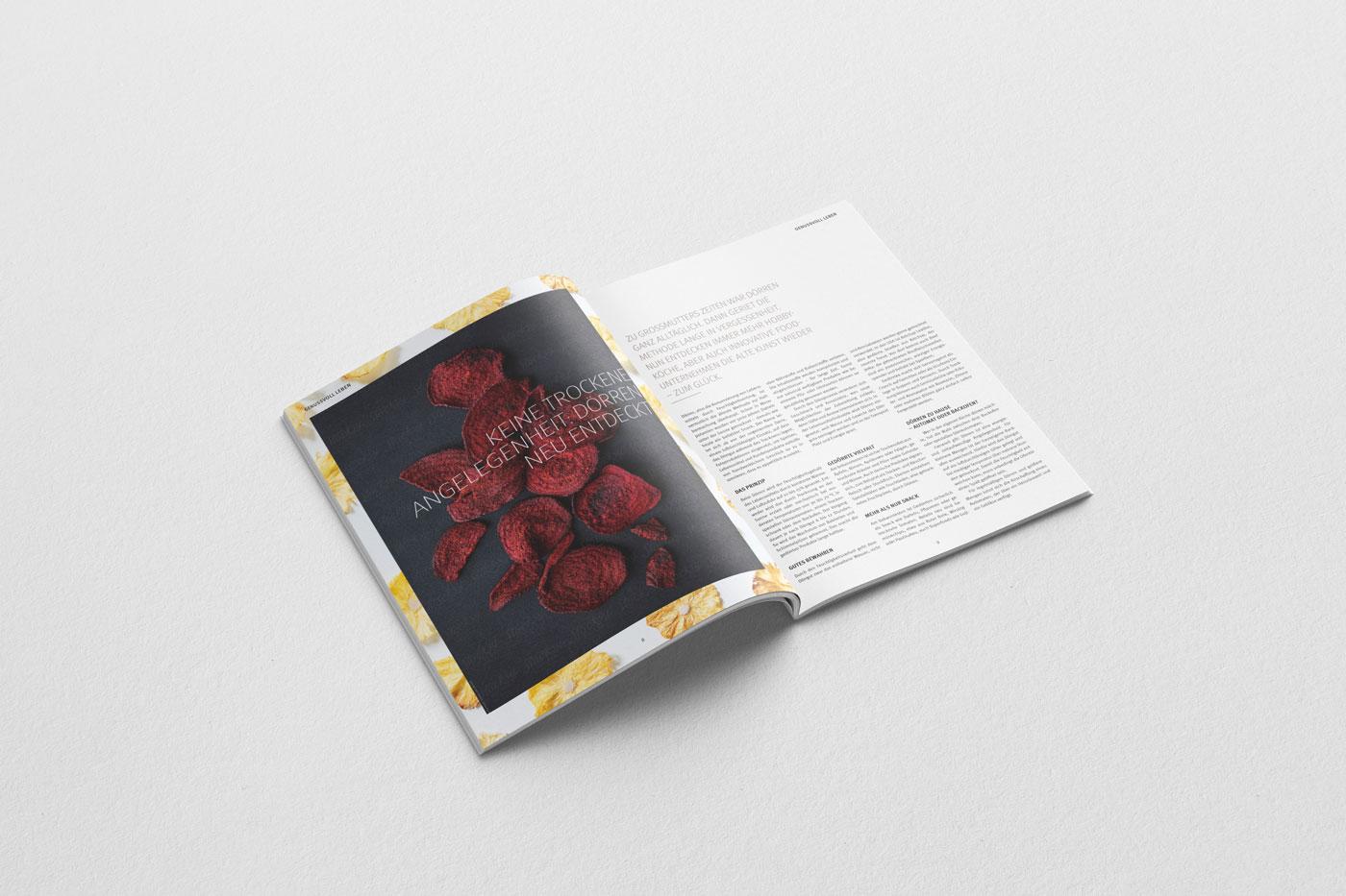 Fissler Kochlust Magazin Editorial Design by studio upstruct