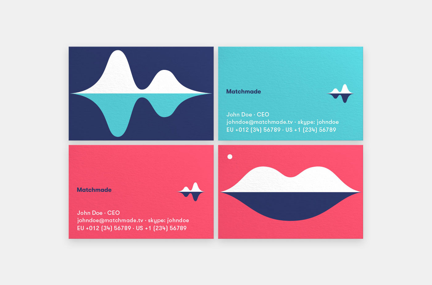 matchmade business cards by upstruct and muskat
