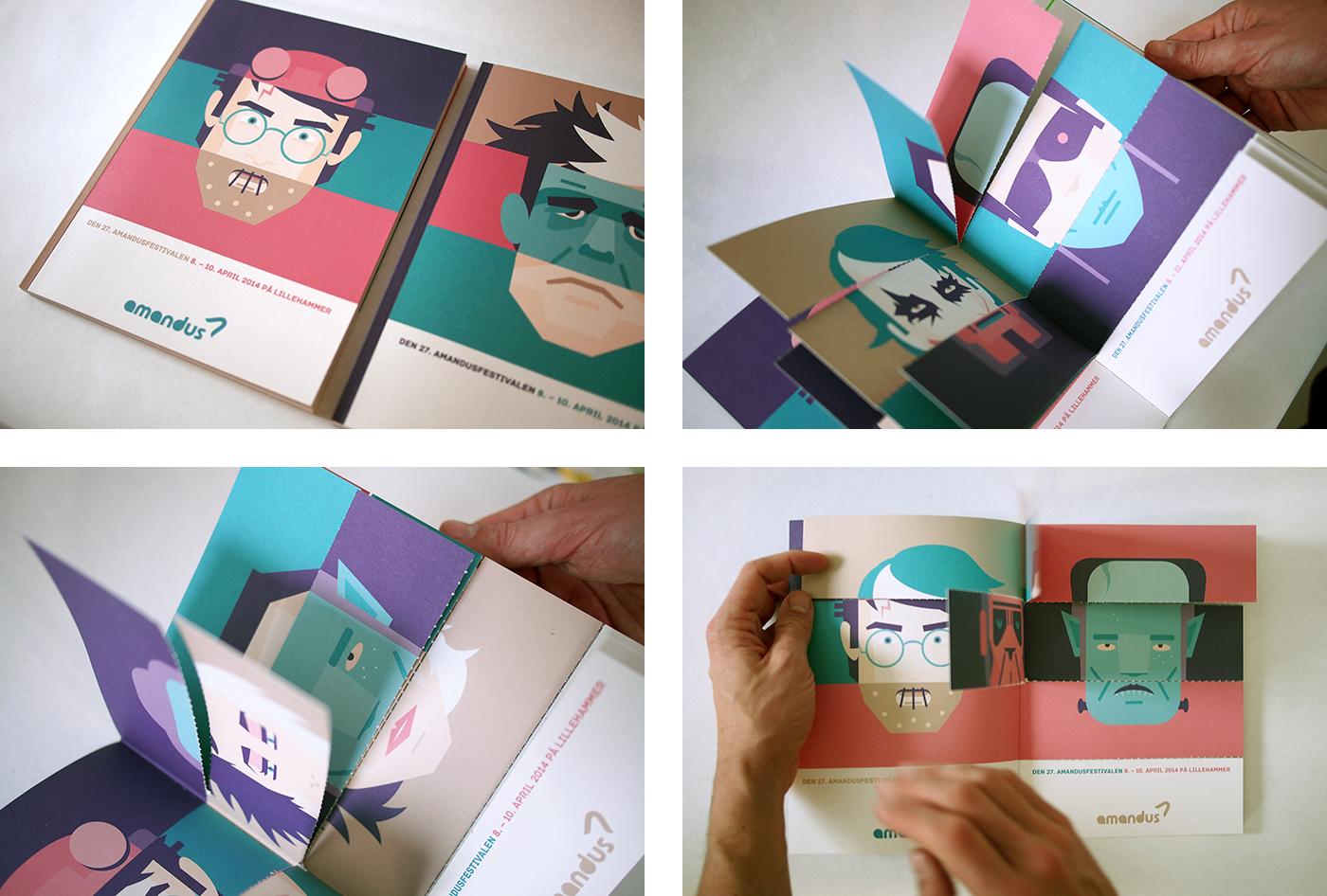 amandus film festival 2014 catalog design by upstruct