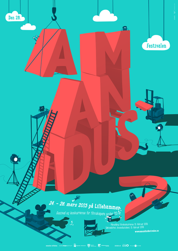amandus film festival 2015 poster by upstruct