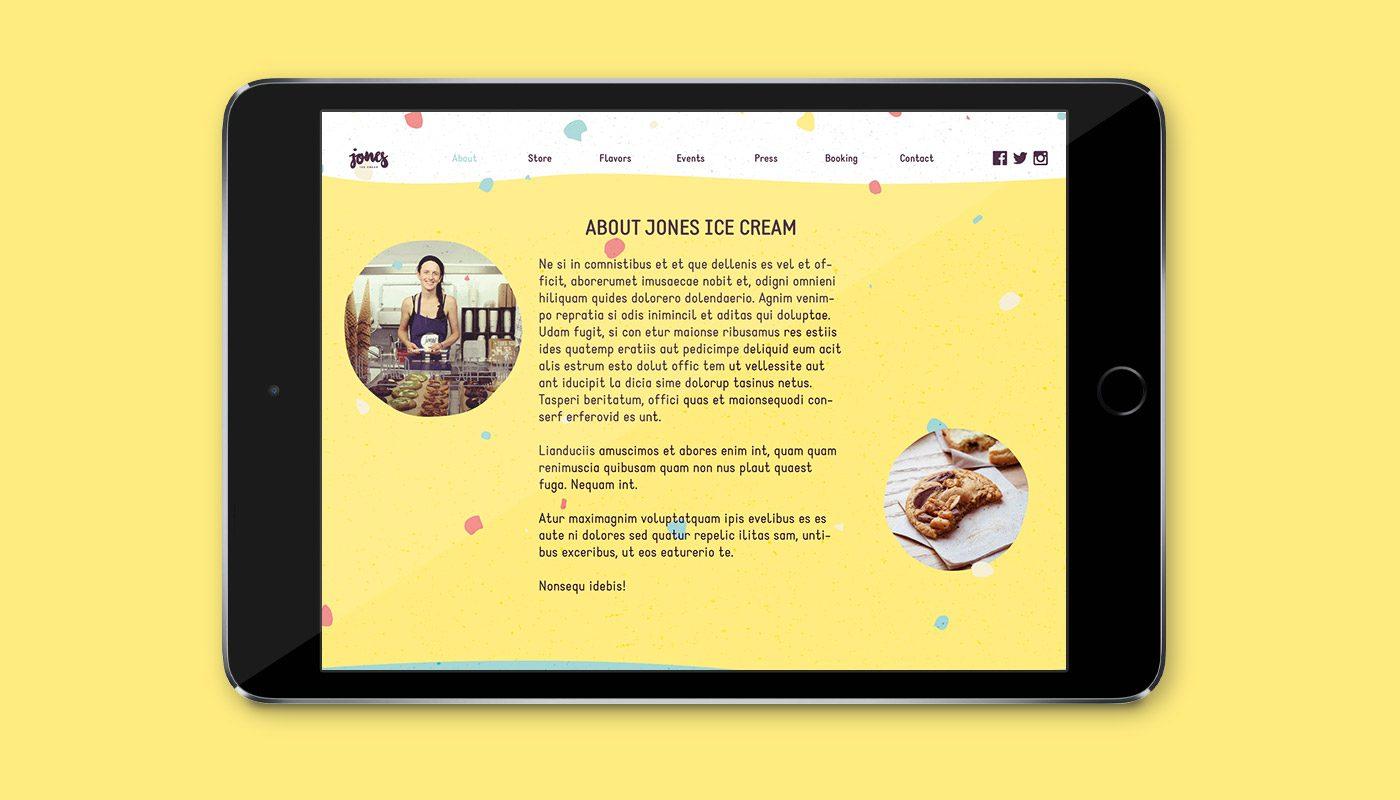 Jones Ice Cream – Website by upstruct