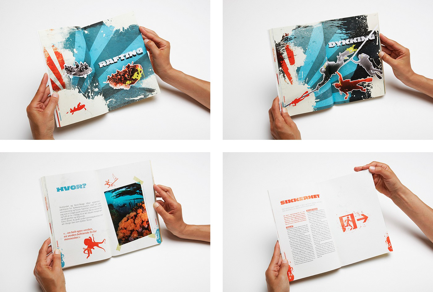KICK Adrenalinguiden book design by upstruct