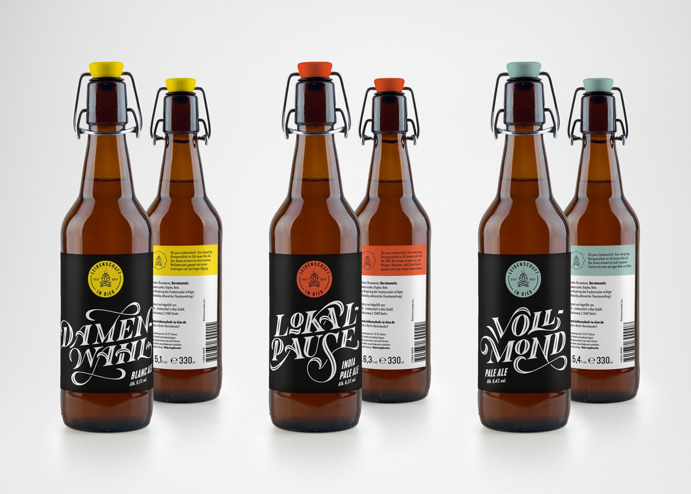 Leidenschaft in Bier - Beer Label Design by upstruct