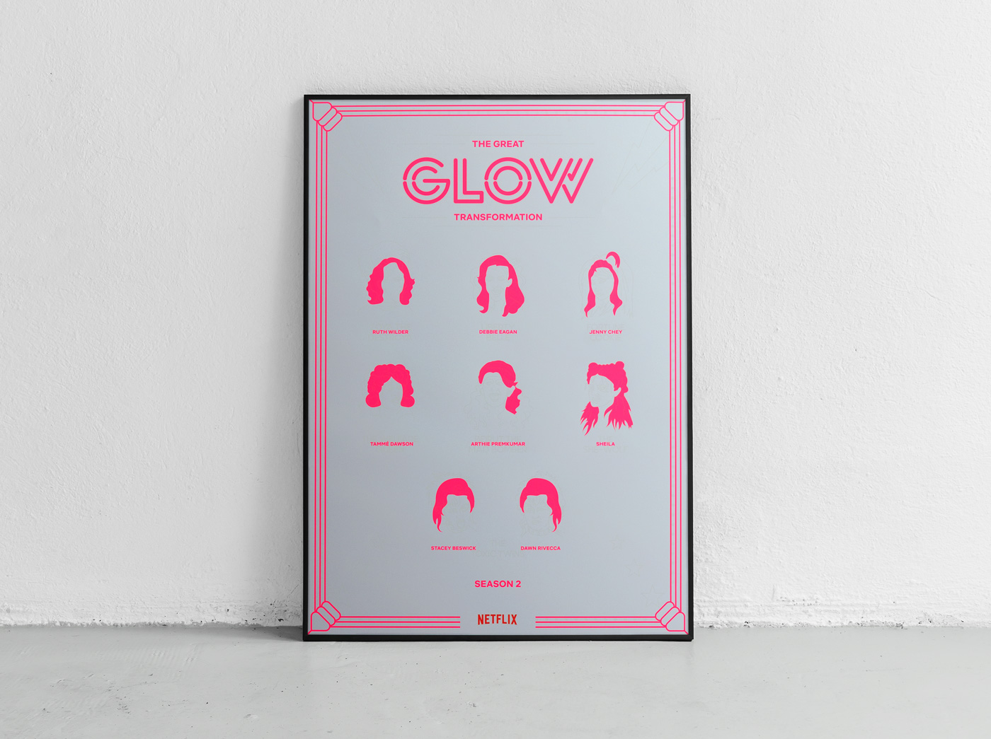 Netflix GLOW - poster design by upstruct