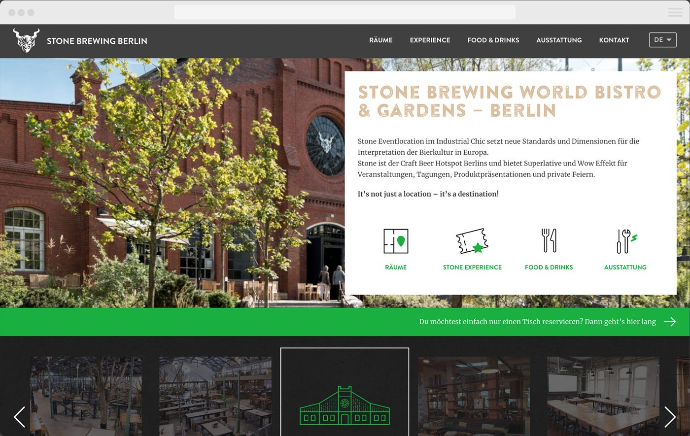 Stone Bistro Website by upstruct