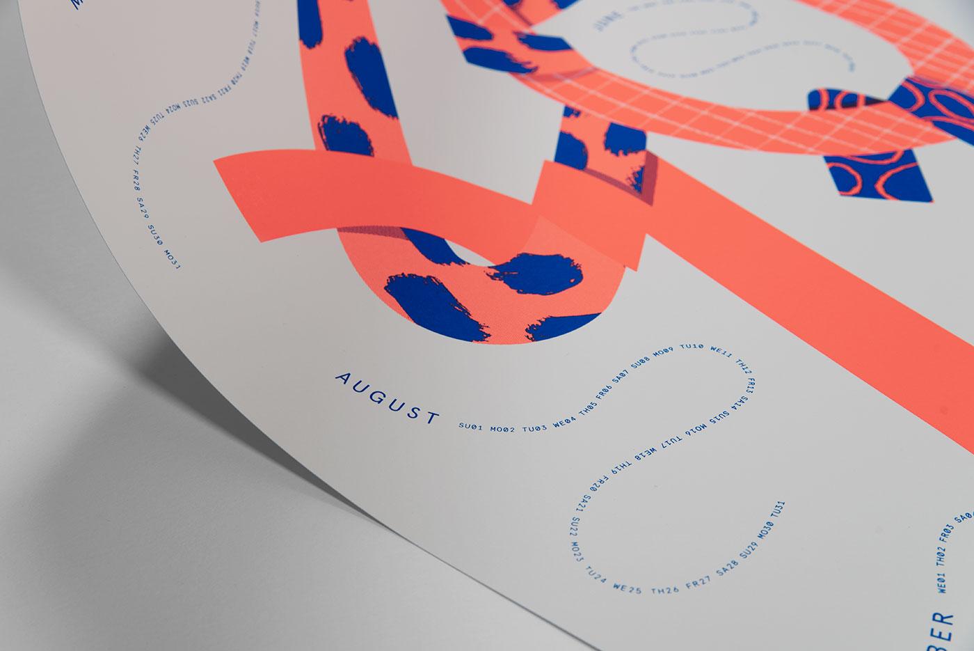 upstruct screen print calendar 2021 - detail