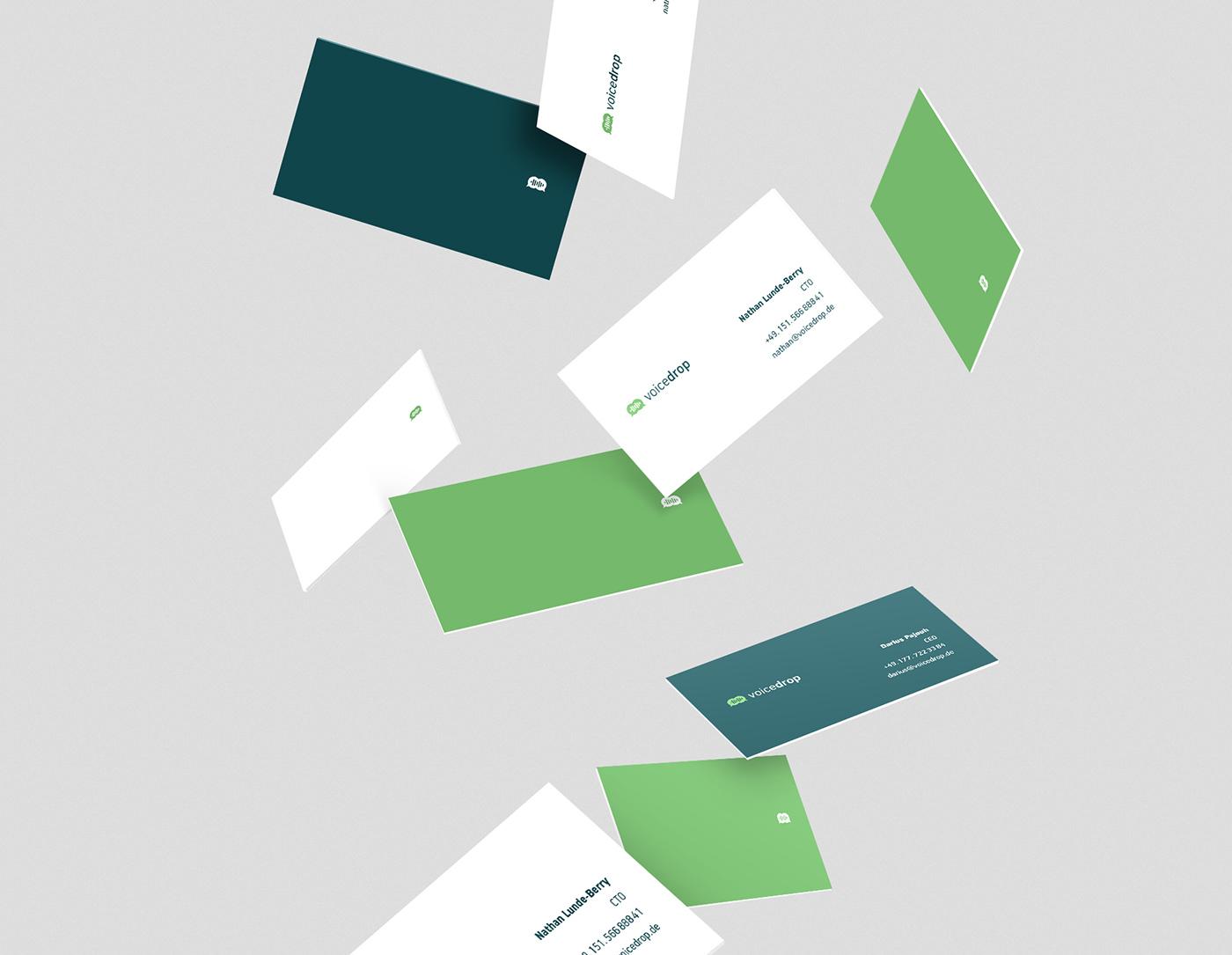 voicedrop brand design by upstruct