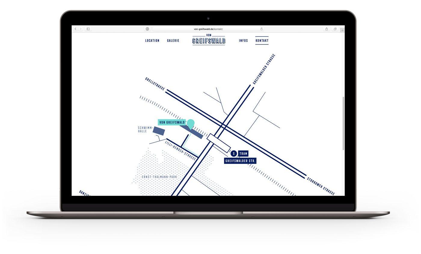von Greifswald – Event Location Berlin - Web Design by upstruct